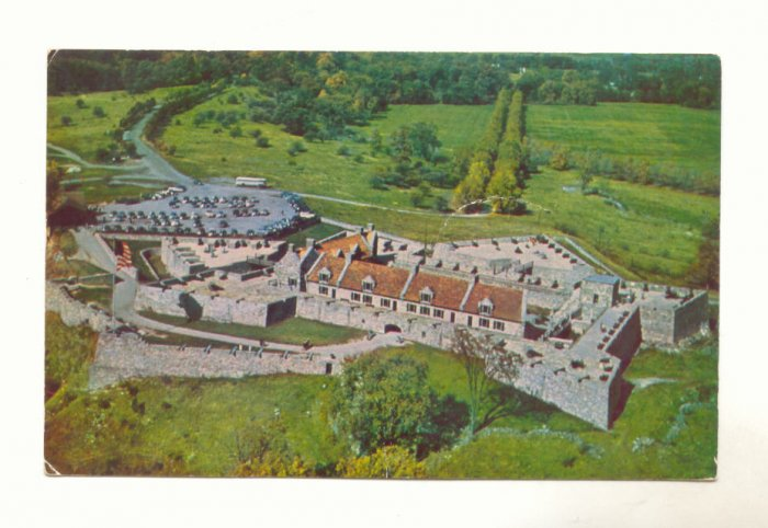 Aerial View Fort Ticonderoga New York Chrome Postcard   #448