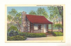 WASHINGTON'S HEADQUARTERS, CUMBERLAND MARYLAND   #453