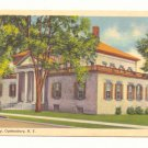 LIBRARY, OGDENSBURG, NEW YORK VINTAGE LINEN POSTCARD    #459