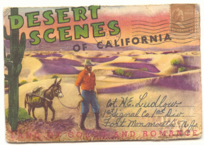 DESERT SCENES OF CALIFORNIA SOUVENIR FOLDER 1940   #497