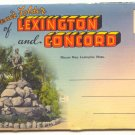 SOUVENIR FOLDER LEXINGTON & CONCORD MASS. Vintage #499