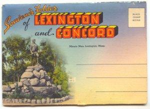 SOUVENIR FOLDER LEXINGTON & CONCORD MASS. Vintage #499