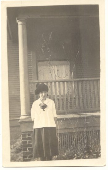 Young Girl, Silly Hat, REAL PHOTO POSTCARD   #503