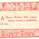 DIPPY DOPE, A Merry Wido Hat, Vintage Unused Postcard   #510