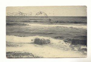 OCEAN SCENE, ASBURY PARK, NEW JERSEY, 1913  Vintage POSTCARD #528