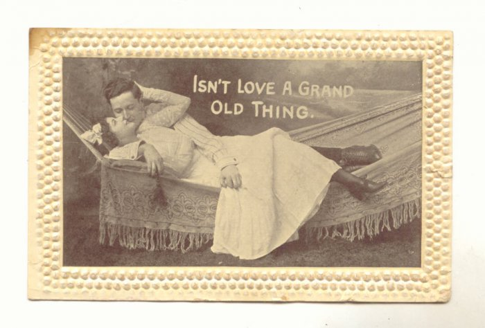 ISN'T LOVE A GRAND OLD THING, Romantic Couple, Black & White, Vintage 1911 Postcard  #539