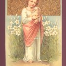 Young Jesus holding Lamb Reproduction Postcard Club Postcard #557