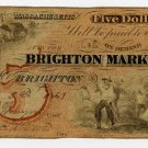 Brighton, Brighton Market Bank, $5, 1861