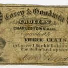 Charlestown, Corey and Goodman, 3 Cents, 1863