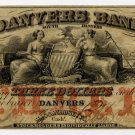 Danvers, Danvers Bank, $3, May 1, 1857