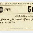 Fall River, DA Brayton, 50 Cents, Nov 20, 1862
