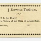 Ashburnham, Barrett's Facilities, -- Cents, 182-, (1820s)