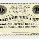 Boston, Charles Blake & William Alden, 10 Cents, 1862