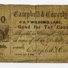 Boston, Campbell & Coverly, 10 Cents, Nov 4, 1862