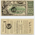 Boston, Coliseum Association, Admission/Lottery Ticket, 1869