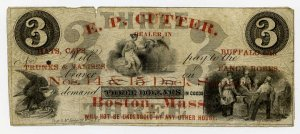 Boston, EP Cutter, Advertising Note, 1850s-60s