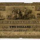 Boston, Franklin Bank, $2, July 27, 1835