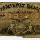 Boston, Hamilton Bank, $3, Oct 14, 1856
