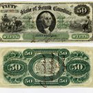State of South Carolina, $50, 1873