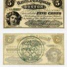 Boston, Harris and Chapman, 5 Cents, Dec 1, 1862