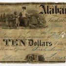 Tuscaloosa, Alabama, Snow and Jamison, $10, 1847