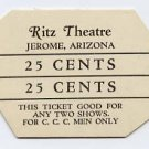 Jerome, Arizona, Ritz Theatre, 25 Cents, 1930s