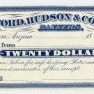 Tuscon, Arizona Territory, $20, 1880s-90s