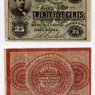 Fort Jones, California, AB Carlock, 25 Cents, 1860s-70s