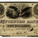 Fitchburg Bank, $10, 1845