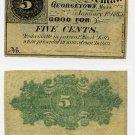 Georgetown, Massachusetts, 5 Cents, 1863