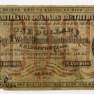 Bridgeport, Connecticut, $1 Lottery Ticket, 1872
