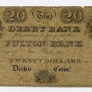 Derby Bank, Connecticut, $20, 1825