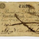 Hartford Bank, Connecticut, $2, 1805