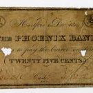 Hartford, Ct., Phoenix Bank, 25 Cents, 1814