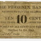Hartford, Ct., Phoenix Bank, 10 Cents, 1815