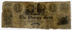 Hartford, Ct., Phoenix Bank, 1 Dollar, 1856