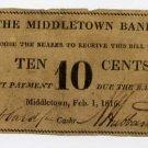 Middletown, Connecticut, 10 Cents, 1816