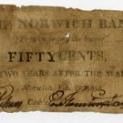 Norwich, Connecticut, 50 Cents, 1815