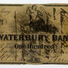 Waterbury, Connecticut, $100, 1859, Paid in 1908