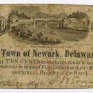 Newark, Town of Newark, 10 Cents, Oct, 1862