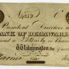 Wilmington, Bank of Delaware, $2, 1839
