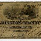 Wilmington, Bank of Wilmington and Brandywine, $10, 1855