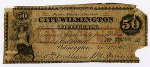 Wilmington, City of Wilmington, 50 Cents, Nov 1, 1862