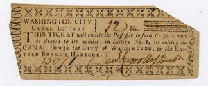 Washington Canal Lottery Ticket, c.1800
