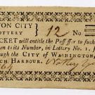 District of Columbia, Washington, Lottery ticket, circa 1800