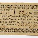 District of Columbia, Washington, Lottery ticket, circa 1800