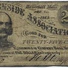 Haverhill, The Burnside Association, 25 Cents, 1862