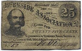 Haverhill, The Burnside Association, 25 Cents, 1862