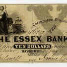 Haverhill, Essex Bank, $10, 1860