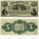 State of South Carolina, $10, 1873